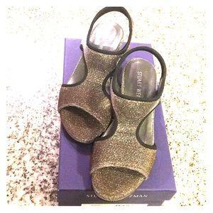 Stuart Weitzman Nugiver Pyrite Stretch Sandals
